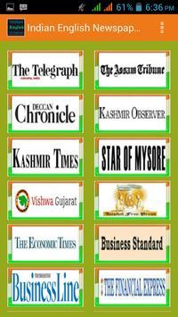 Indian English Newspapers screenshot 1