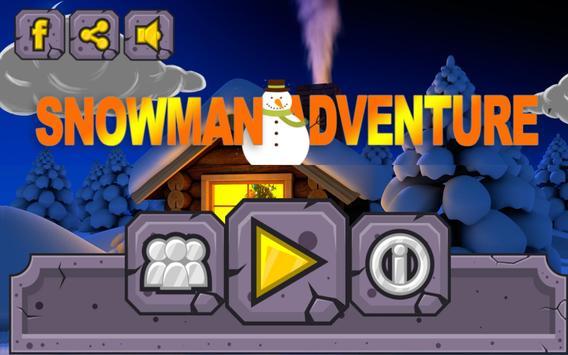 Snowman adventure poster