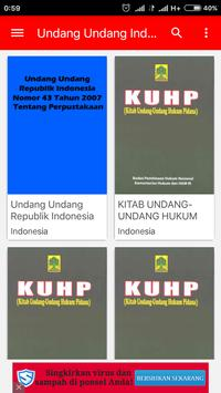 Undang Undang Indonesia poster