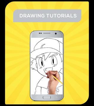 How To Draw Pokemon Characters apk screenshot