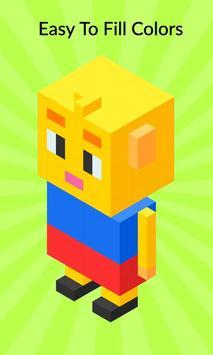 3D Pixel Coloring By Number - Creative Art Games screenshot 3