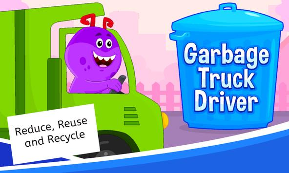 Garbage Truck Games for Kids - Free and Offline poster