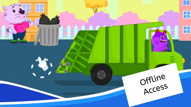 Garbage Truck Games for Kids - Free and Offline screenshot 14