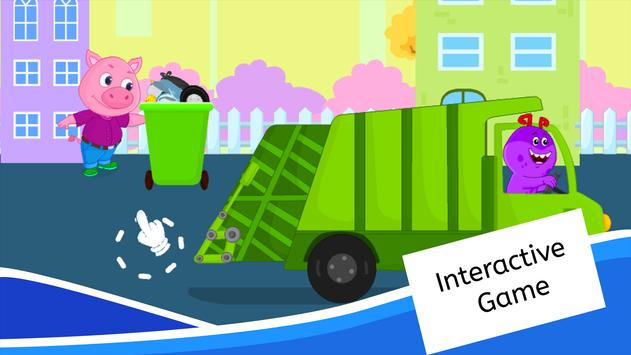 Garbage Truck Games for Kids - Free and Offline screenshot 13