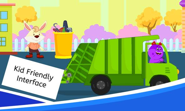 Garbage Truck Games for Kids - Free and Offline screenshot 1