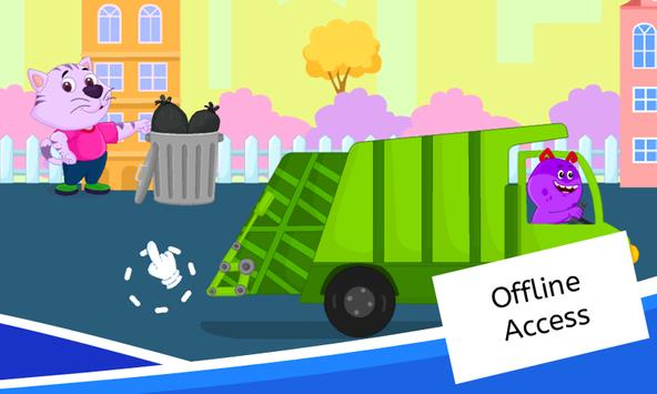 Garbage Truck Games for Kids - Free and Offline screenshot 2