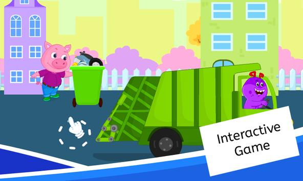Garbage Truck Games for Kids - Free and Offline screenshot 4