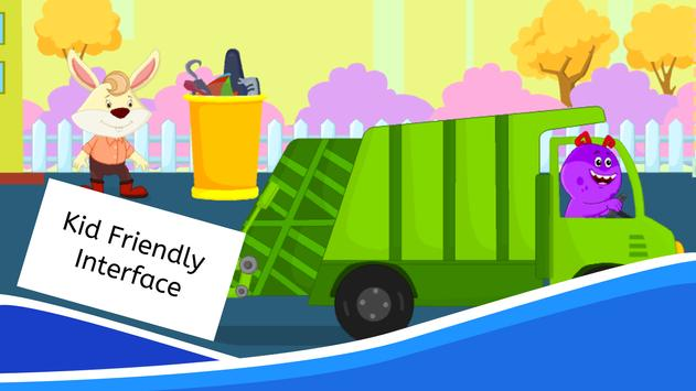 Garbage Truck Games for Kids - Free and Offline screenshot 7