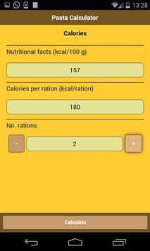 Pasta Calculator screenshot 4