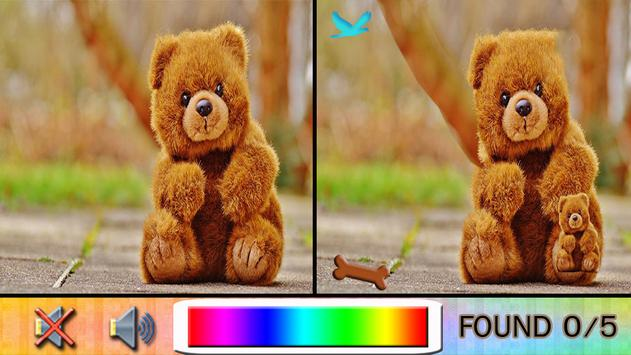 Find Difference bear poster