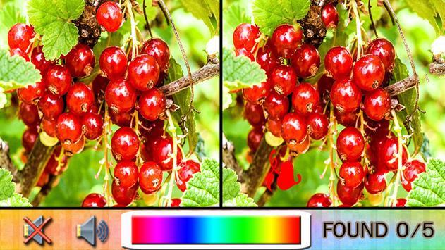 Find Difference garden fruit apk screenshot
