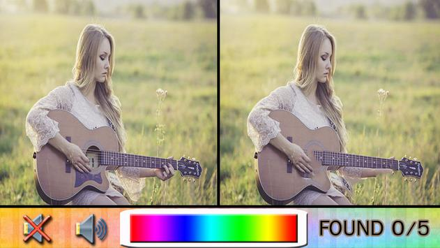 Find Difference guitar poster
