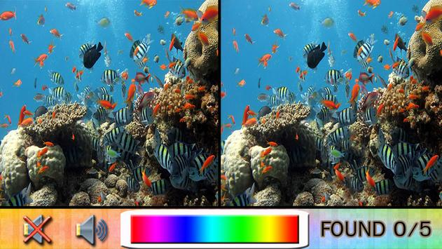 Find Difference under the sea poster