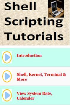 Shell Scripting Tutorials poster