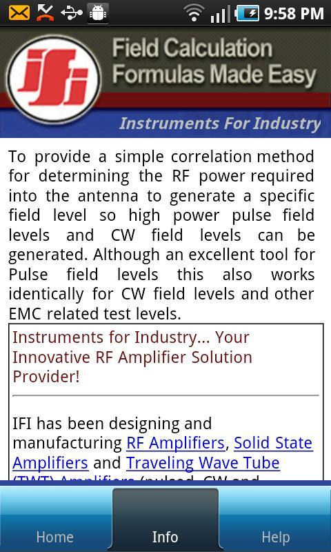 IFI Field Calculator for Android - APK Download