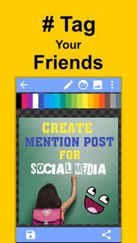 Create Mention Post For Social Media screenshot 5