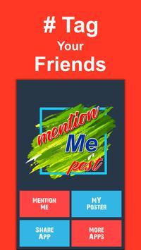 Create Mention Post For Social Media poster
