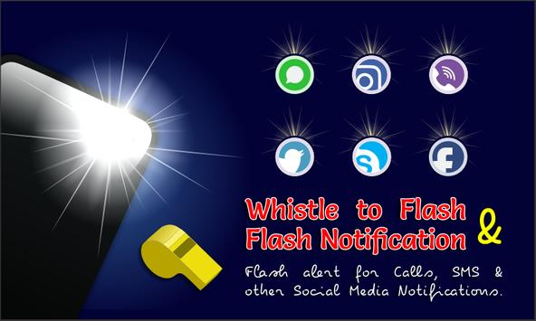 Flash Alert Call SMS - Whistle To Flashlight poster