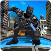 Panther Super Hero Crime City Battle icon