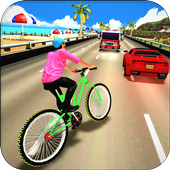 Beach Bicycle Traffic Rider 3D icon