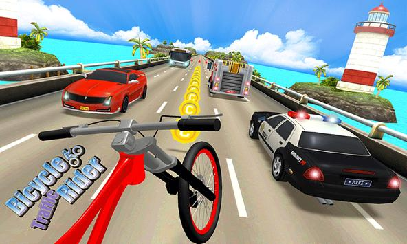Beach Bicycle Traffic Rider 3D poster