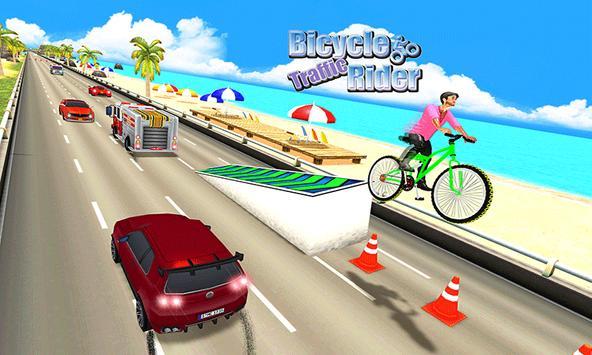 Beach Bicycle Traffic Rider 3D apk screenshot