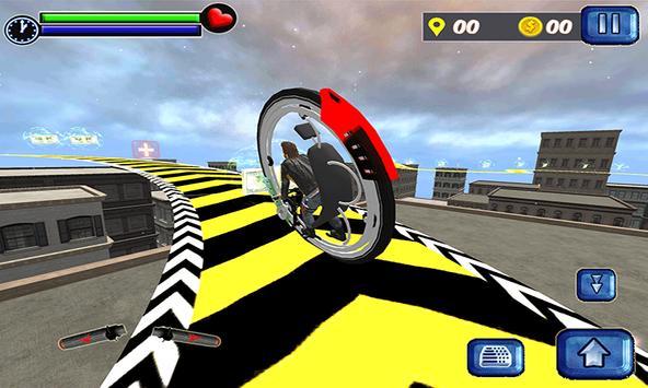 Monowheel Rooftop Simulator screenshot 2
