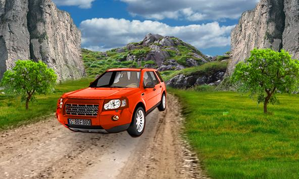Real mountain car driving 4X4 poster