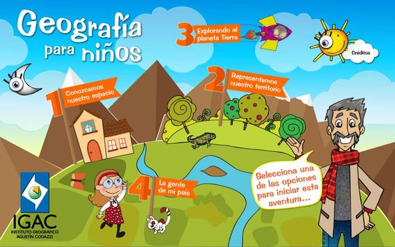 Geografía para Niños poster