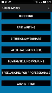 Online Money poster