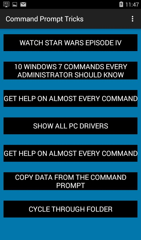 Command Prompt Tricks for Android - APK Download