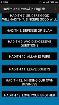 Hadith Nawawi apk screenshot