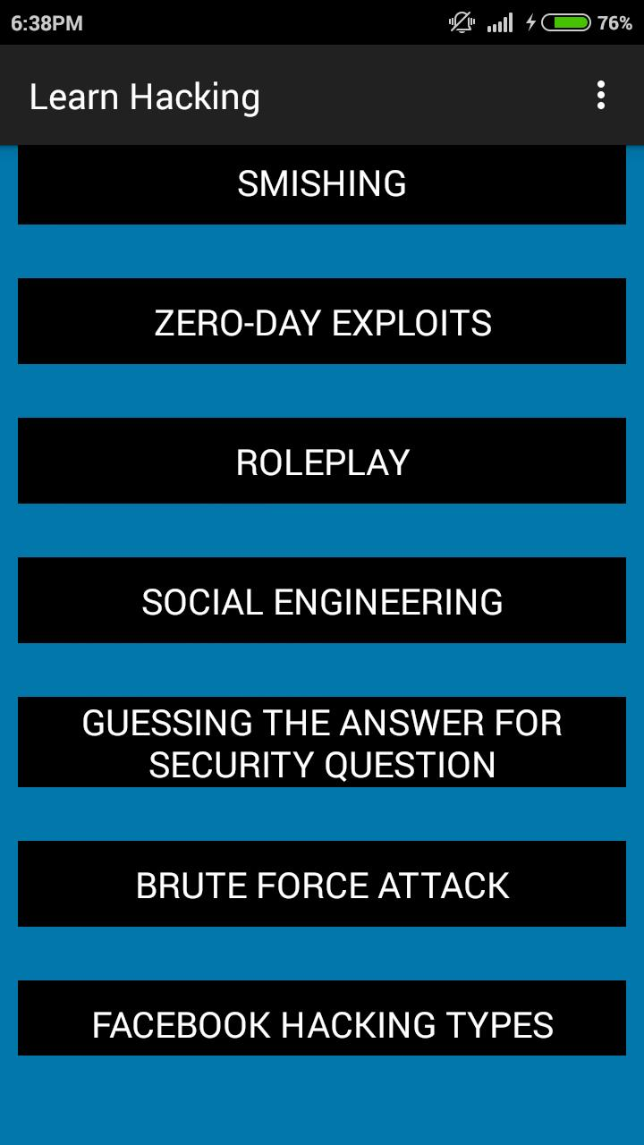 Learn Hacking for Android - APK Download