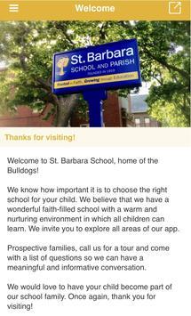 St. Barbara School poster