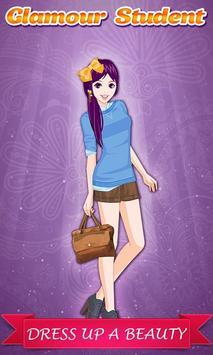 Glamour Student Girl: DressUp screenshot 2
