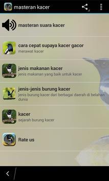 Masteran Kacer Lengkap poster