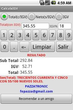 Calcula el IGV apk screenshot