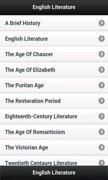 English Literature poster