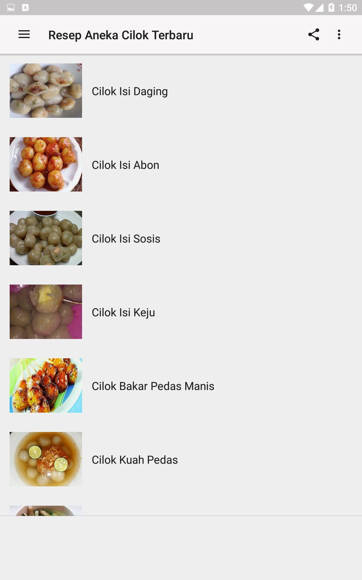 Resep Aneka Cilok Terbaru For Android Apk Download