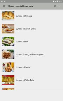 Resep Lumpia Homemade poster