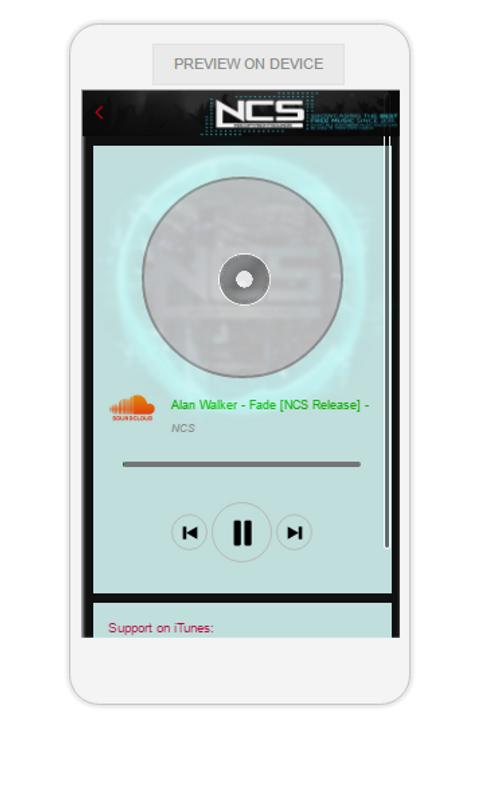 App St Screensh Ncs Music Player — ZwiftItaly
