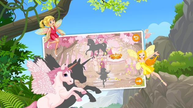 Princess Shadow Puzzles for Kids Free poster