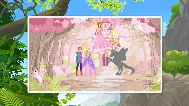 Princess Shadow Puzzles for Kids Free screenshot 1