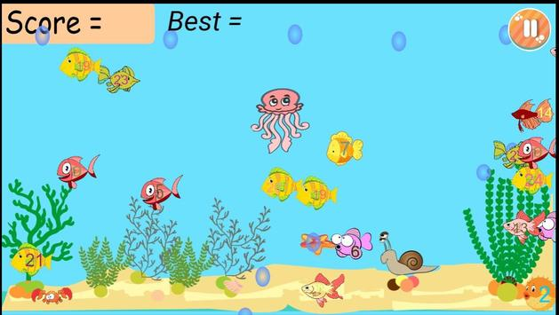 Jelly Fish Math screenshot 1
