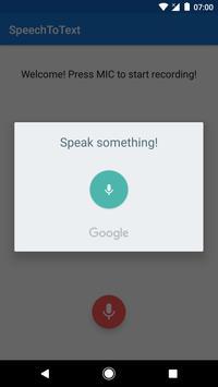 SpeechToText apk screenshot