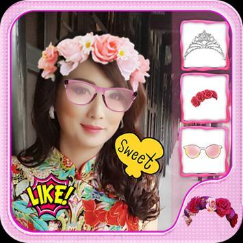 Flower Crown Beauty Camera apk screenshot