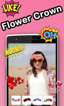 Flower Crown Beauty Camera apk screenshot