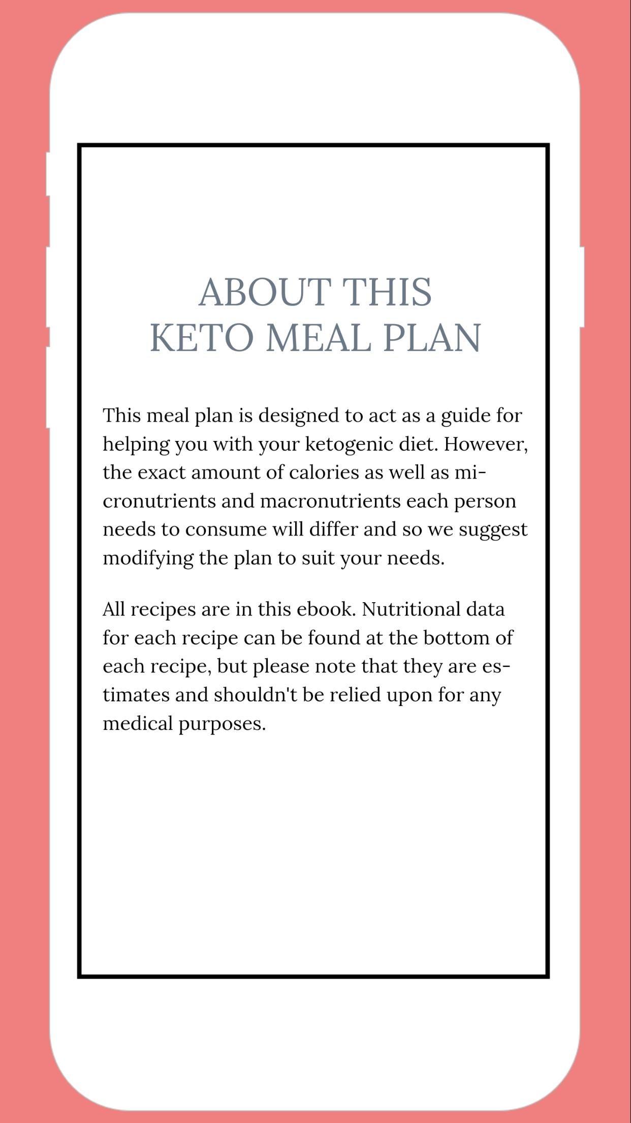 7 Day Ketogenic Diet Meal Plan For Android Apk Download