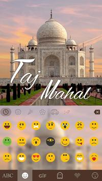 TajMahal Keyboard Theme apk screenshot