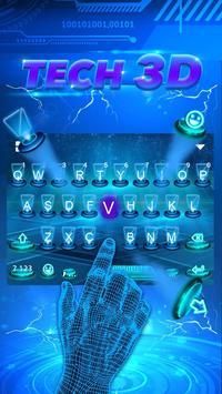 Hologram Blue Keyboard Theme poster